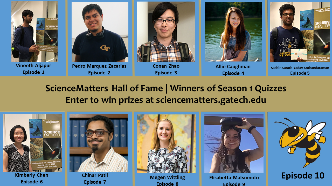 ScienceMatters Hall of Fame, Season 1