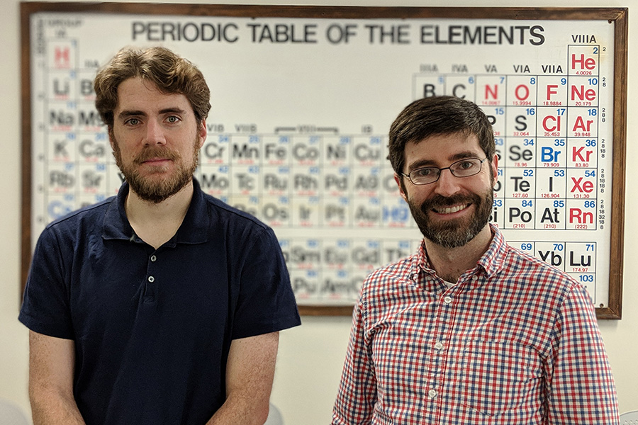 Jonathan Michel (left) and Peter Yunker (Courtesy of Peter Yunker)