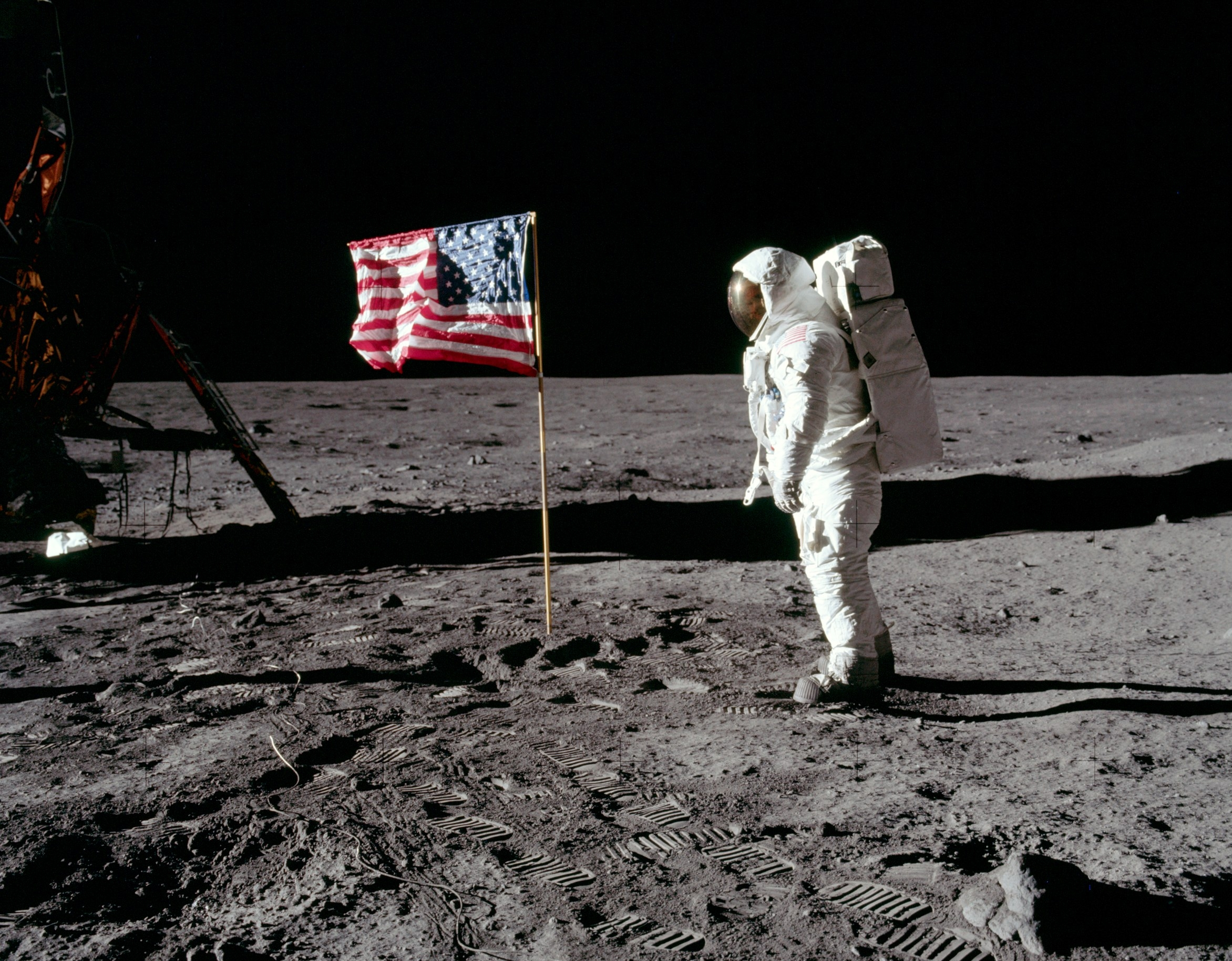 A human on the Moon on July 20, 1969 (Photo by NASA)