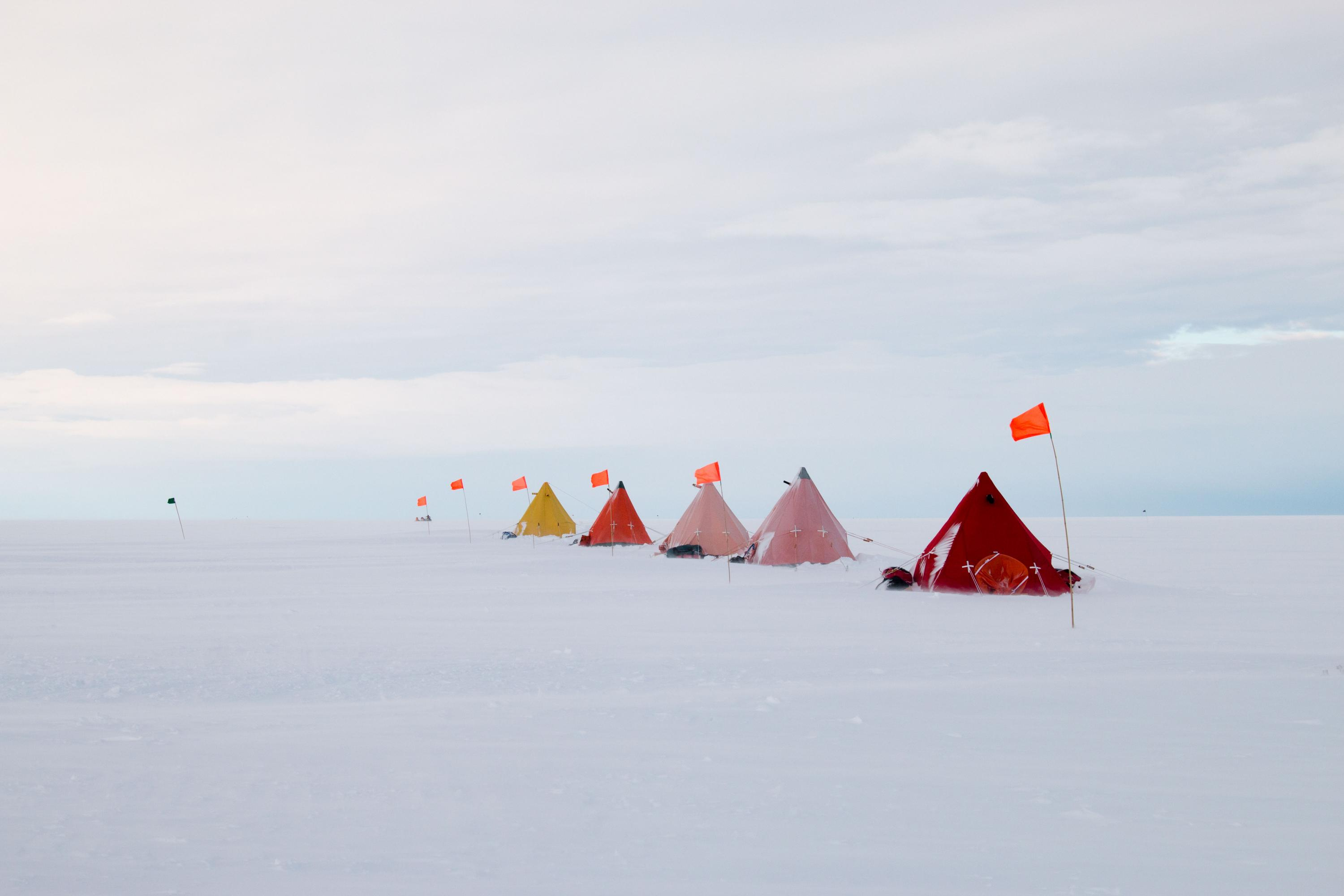 Thwaites Glacier research camp