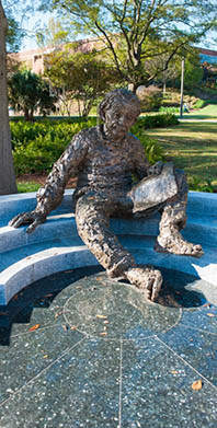 Statue of Einstein on Georgia Tech campus