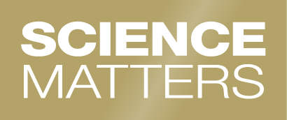 Science Matters name stacked in a stylized text treatment