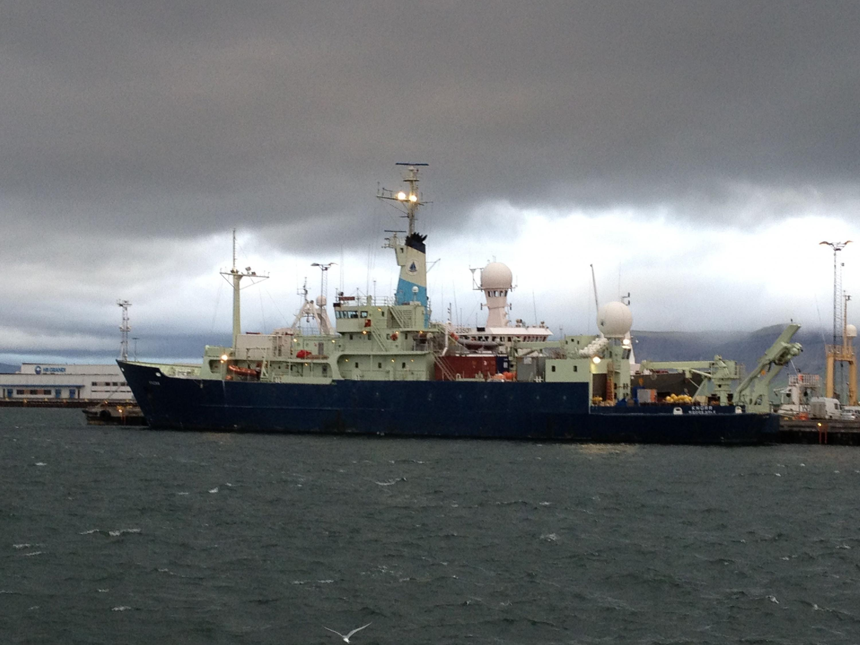 R/V Knorr, a research vessel used by OSNAP. (Photo by Bill Johns)