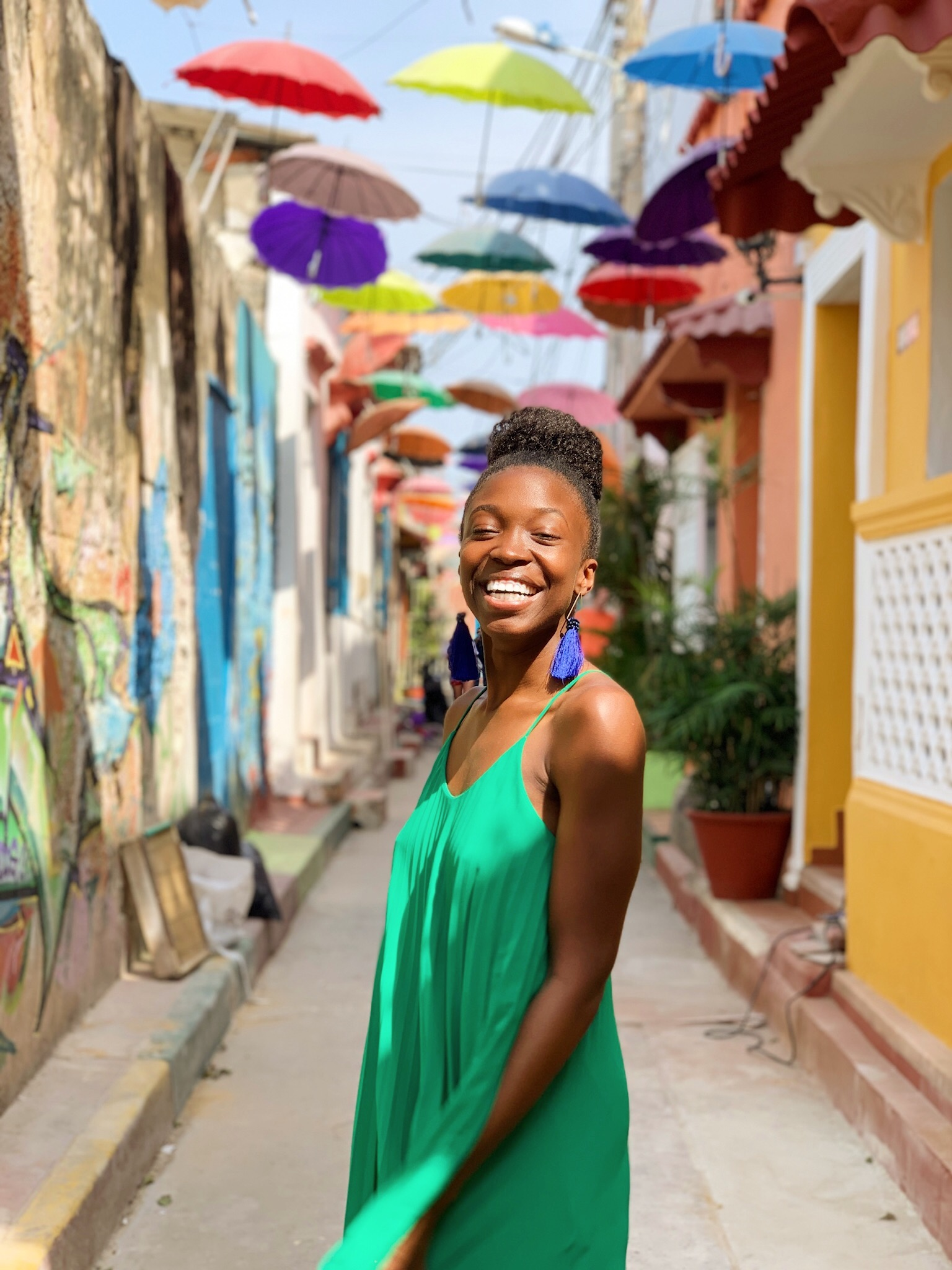 Boone is an avid traveler, and is pictured here in Getsemani, Colombia.