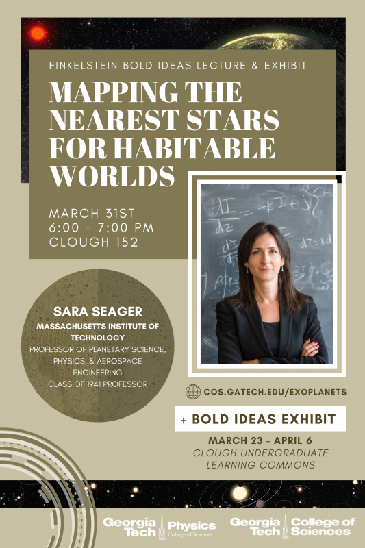 Sara Seager Bold Ideas Lecture