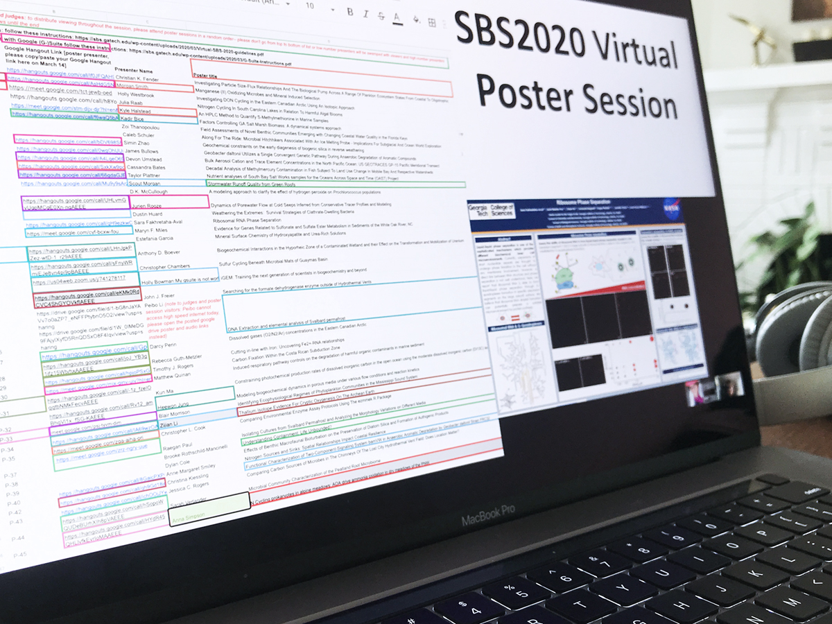 Exploring the #SBS2020 Virtual Poster Session (Photo: Jess Hunt-Ralston).