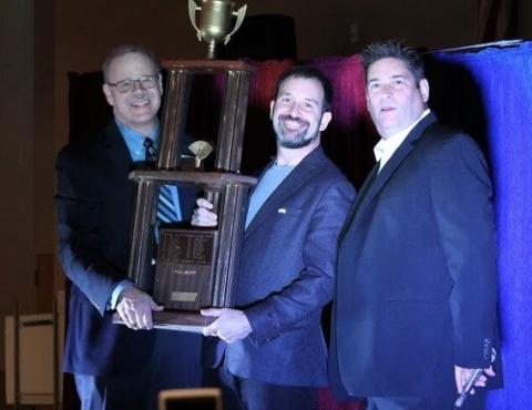(Left to right) Mike Dunagan, president of the Georgia Magic Club, Matt Baker, and Merritt Ambrose, president of the Atlanta Society of Magicians