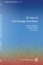 """Front Cover of """"50 Years of First-Passage Percolation"""" (Courtesy of American Mathematical Society)"""