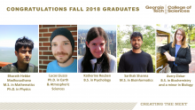 College of Sciences Fall 2018 Graduates