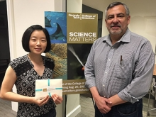 Kimberly Chen with ScienceMatters host Renay San Miguel