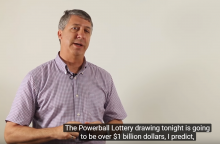 The lottery as explained by Lew Lefton