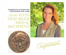 Kim Cobb honored with 2020 Hans Oeschger Medal
