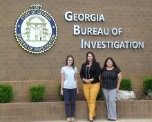 From left: Brittany Scott, Deneen Kilcrease, and Stephanie Menendez (Photo by Hui Zhu)
