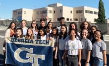 Georgia Tech undergrads at Lilly España (Courtesy of Cam Tyson)