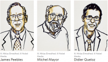 Winners of 2019 Nobel Prize in Physics (Credit: Nobel Media)