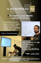Laptop orchestra performs on Feb. 21, 2019.