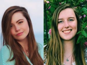 Neuroscience major Cristina Baker (left) and biochemistry major Michelle Schroeder have been selected to receive the Beckman Scholarship.
