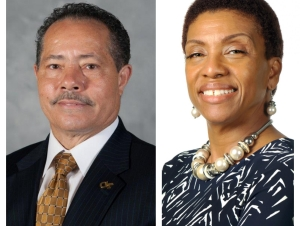 Archie Ervin (left) will serve as chair of the newly formed Georgia Tech Diversity, Equity, and Inclusion Council. Pearl Alexander (right) will serve as vice chair.