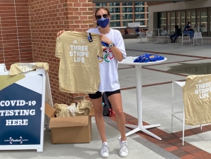 Free t-shirts and local restaurant discounts are popping up at Tech's Covid-19 vaccine clinics and asymptomatic surveillance testing sites on campus.