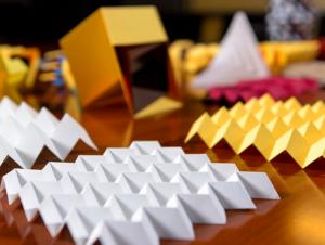 Origami folding patterns (Photo Georgia Tech)